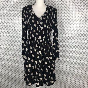 Maeve long sleeve patterned dress   size large
